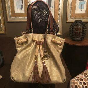 Michael Kors Matte Gold Handbag